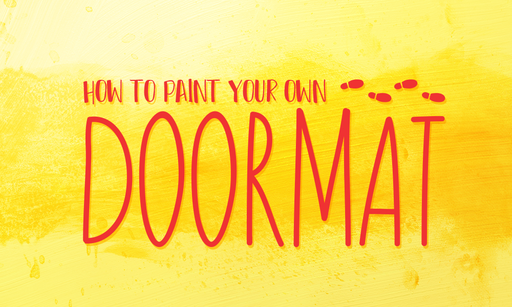 How to Paint Your Own Doormat Preview