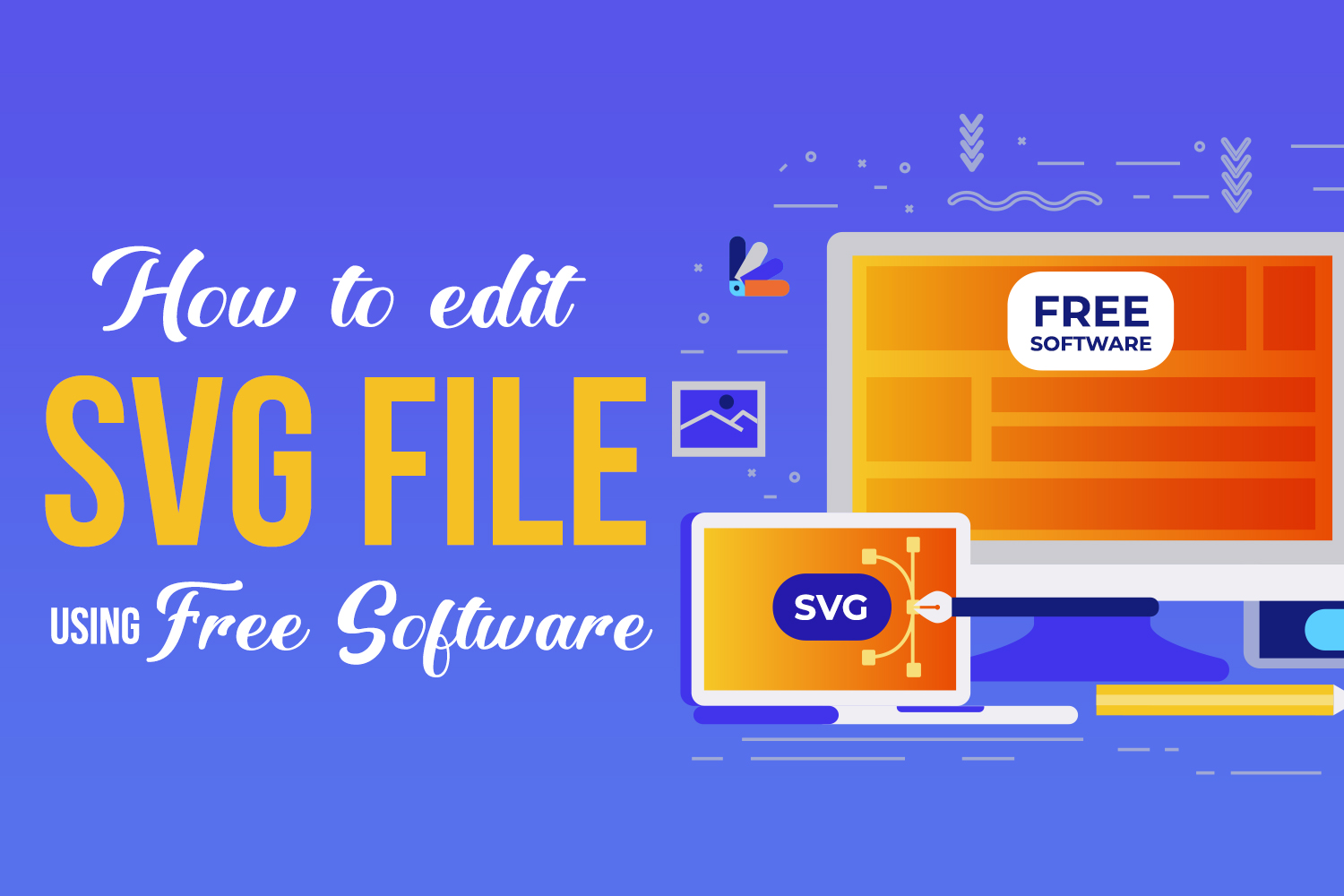 How to edit an SVG file using FREE software Preview