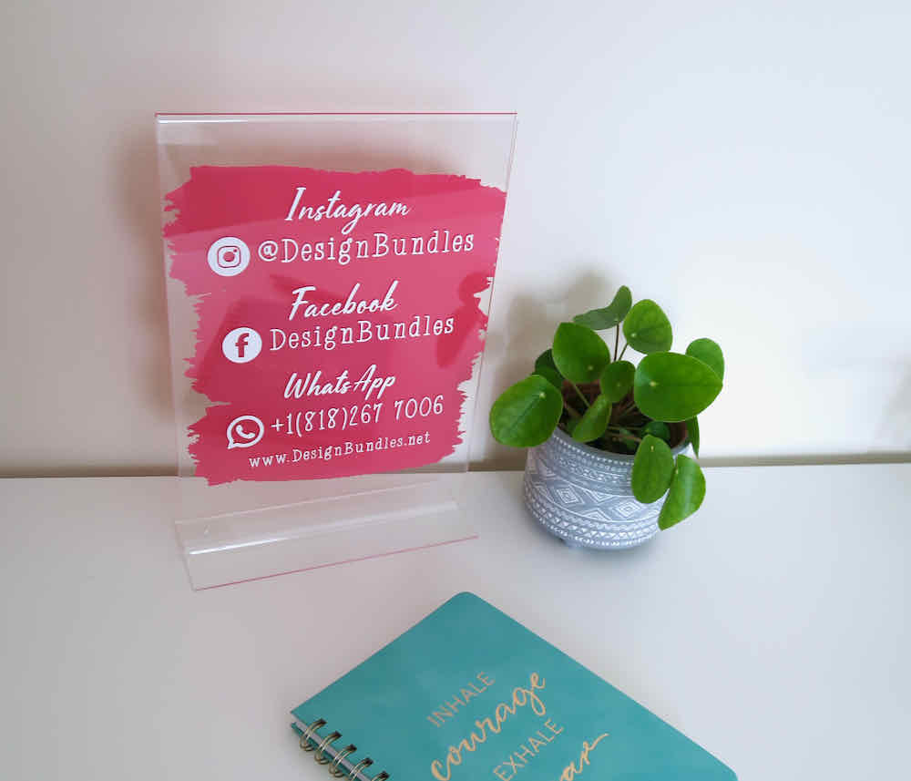 How To Make A Social Media Plaque For Your Small Business