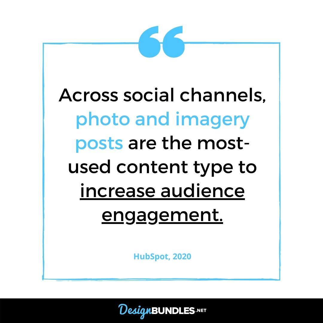 Imaged based posts improve social media engagements