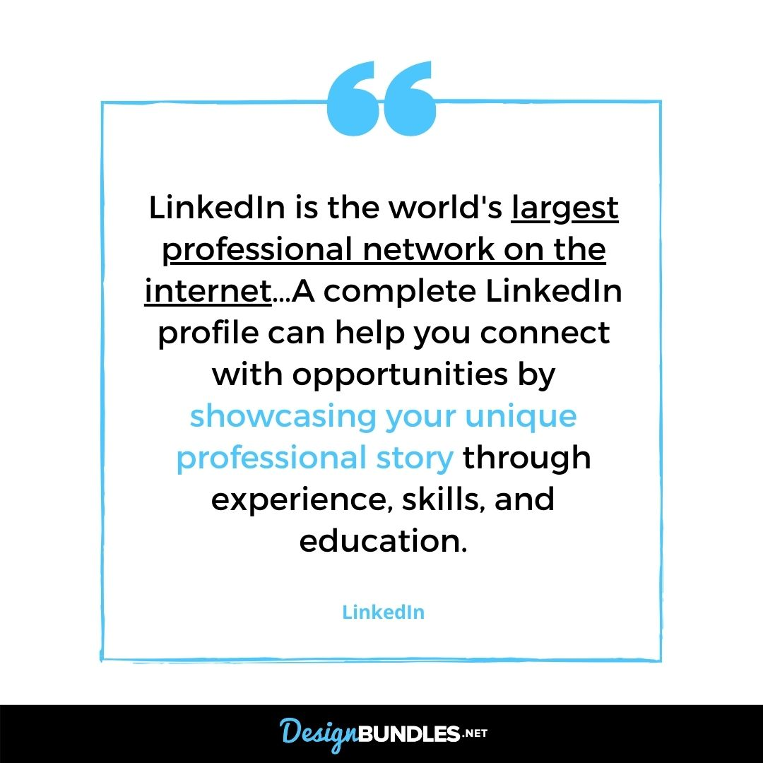 Quote about LinkedIn