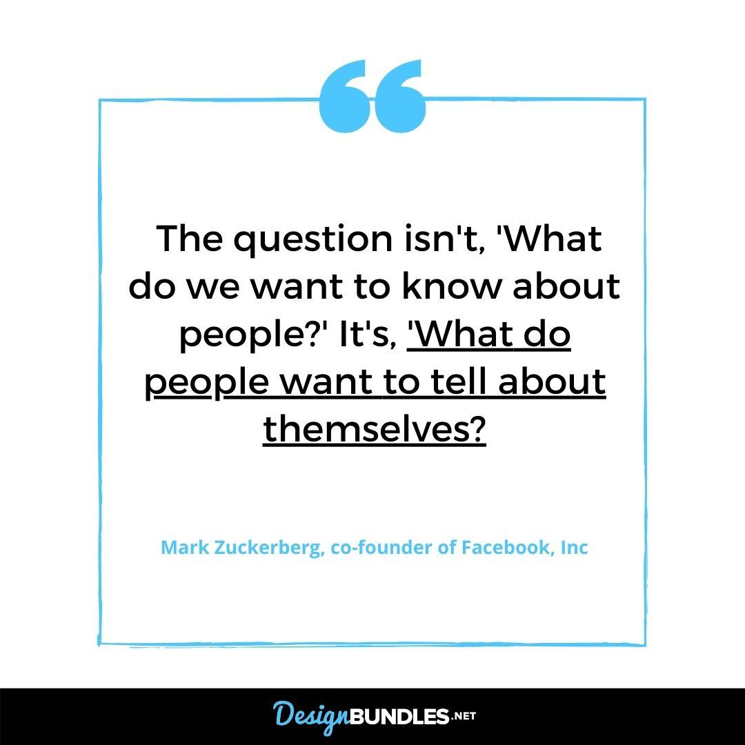 Mark Zuckerberg Quote About Facebook