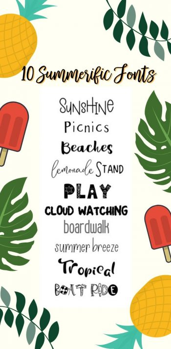 10 fonts perfect for Summer projects