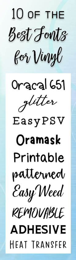 10 of the best fonts for vinyl projects