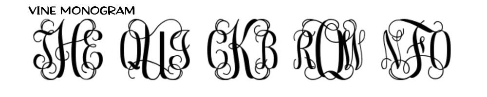 Hot Fonts Spring 2017: Vine Monogram