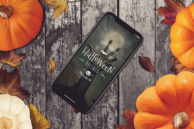 Digital Halloween Party Invite Design