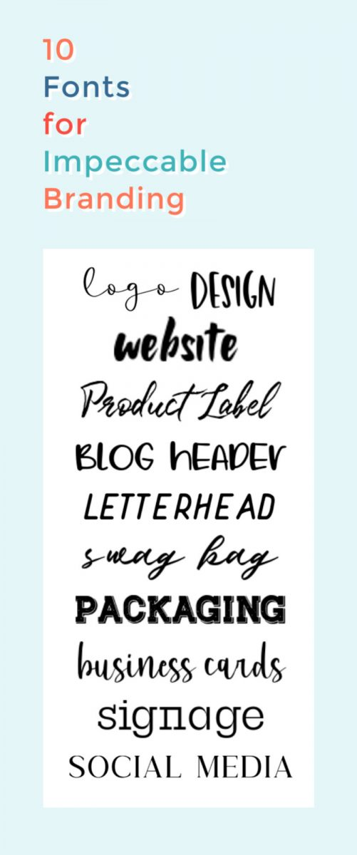 10 fonts for impeccable branding