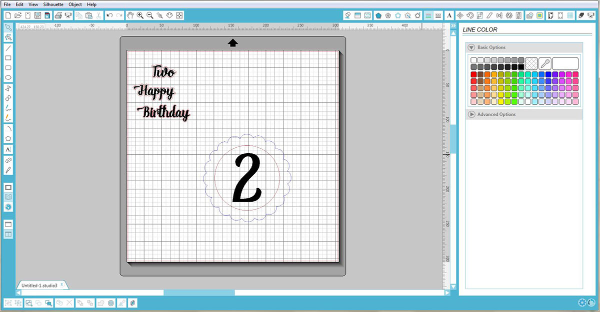 Line up the shapes in Silhouette Studio