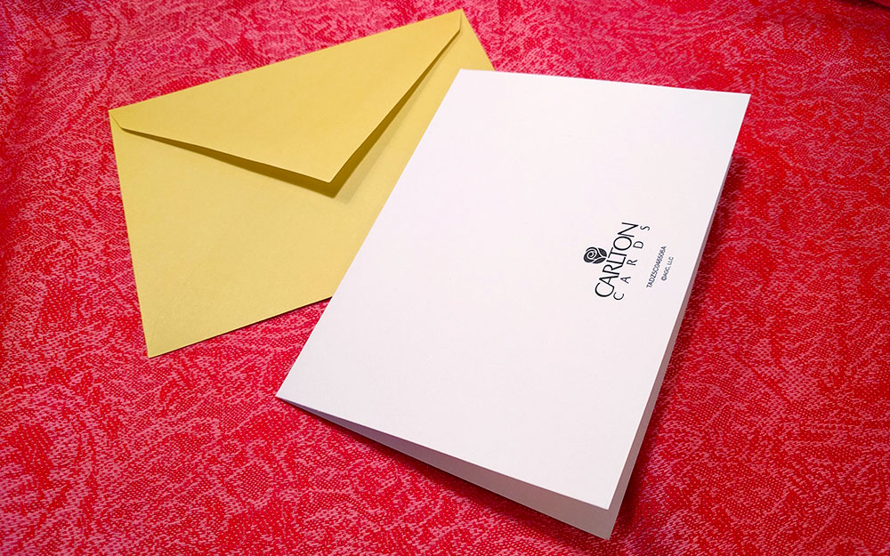 Mockups: base photo of greeting card
