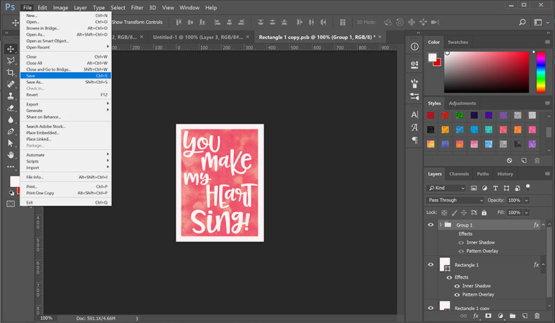 Mockups: editing the Smart Object