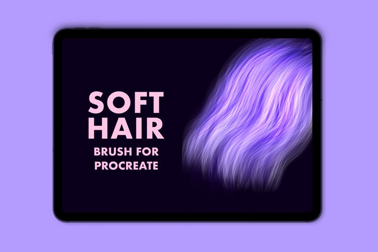 Soft hair brush for Procreate example image 1