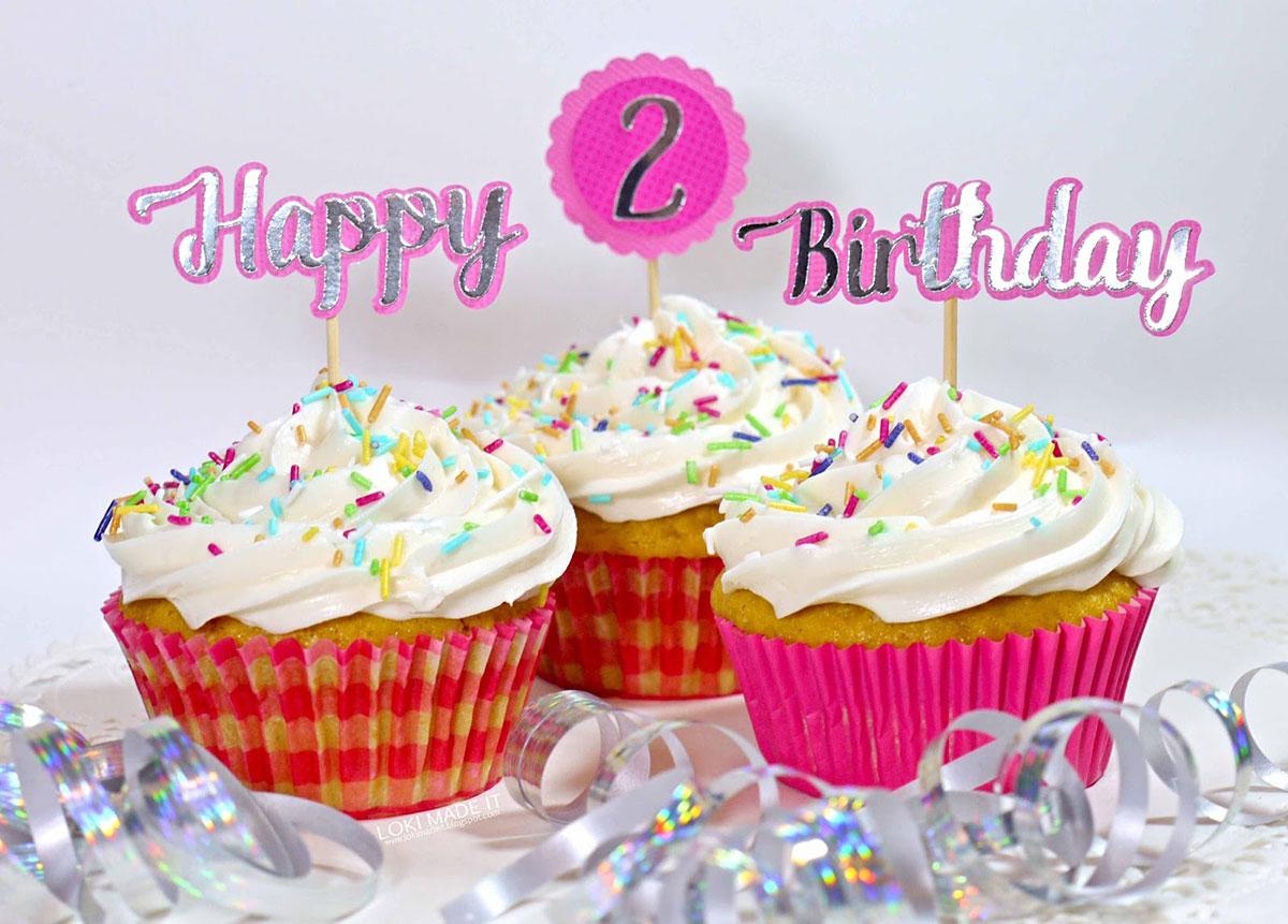 Happy 2nd Birthday Cupcakes