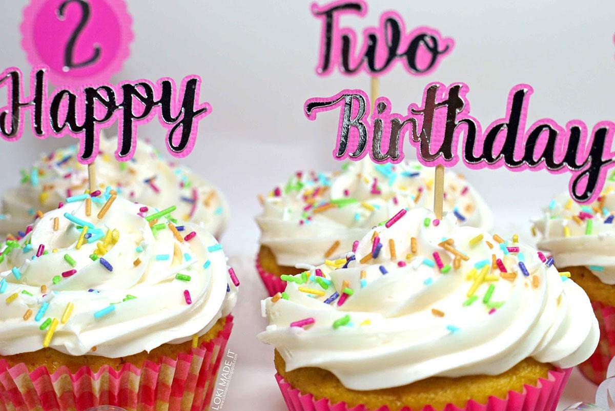 Happy Second Birthday Cake Design