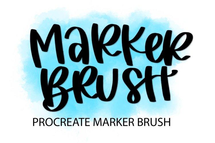 Procreate Brush - Marker Brush example image 1