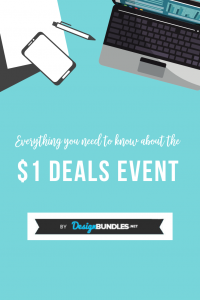 Everything you need to know about the $1 deals event by designbundles and fontbundles.net