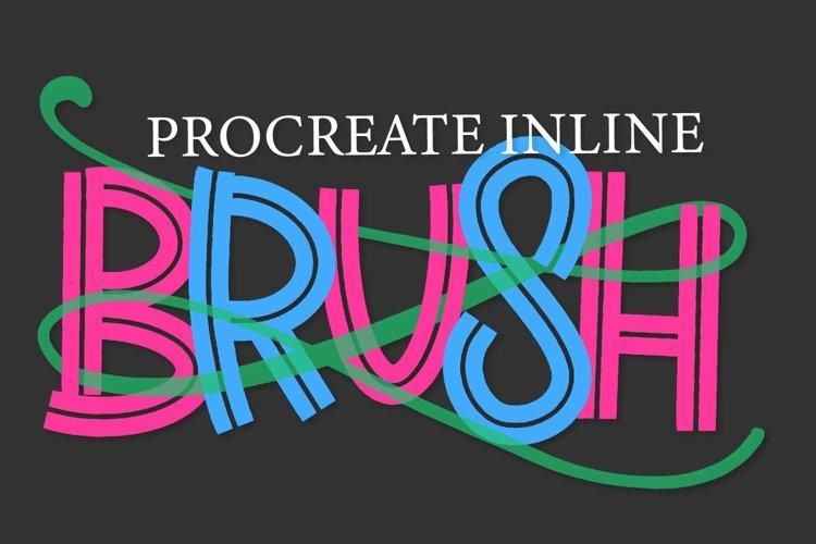 Procreate Brush - Inline Marker example image 1