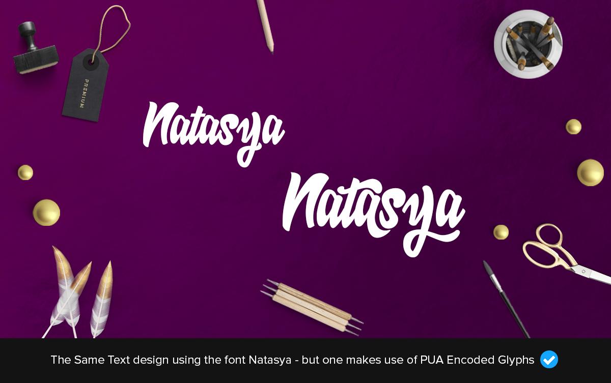natasya fancy font