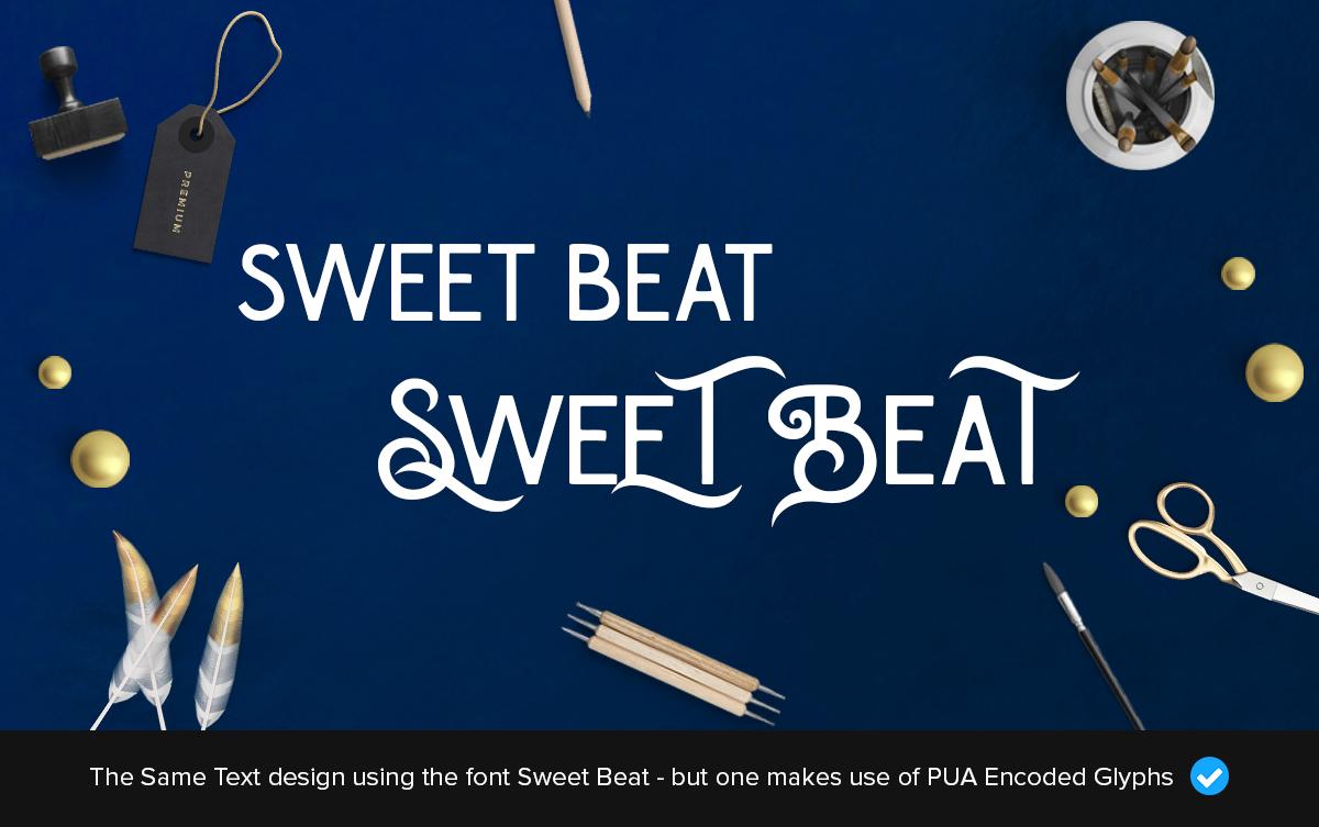 sweetbeat fancy font design