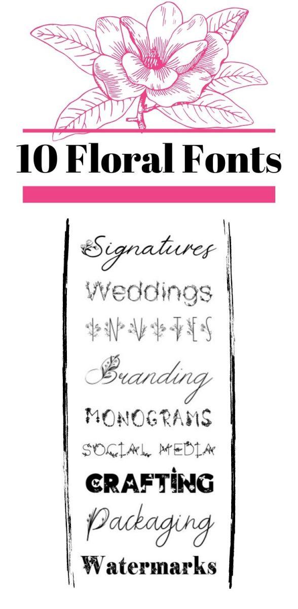 10 gorgeous floral fonts