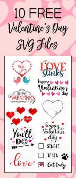 10 Free Valentine's Day SVG files