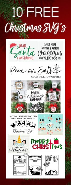 10 Free Christmas SVG files for Cricut or Silhouette