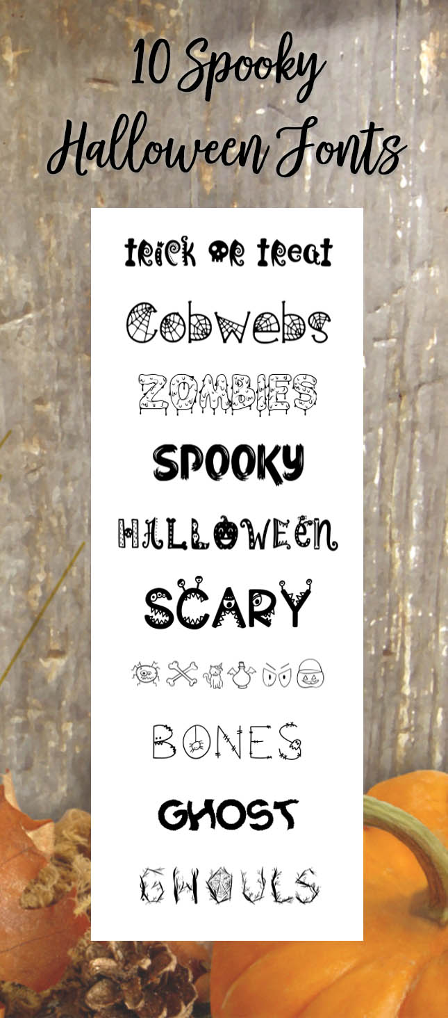 10 Spooky Fonts perfect for Halloween