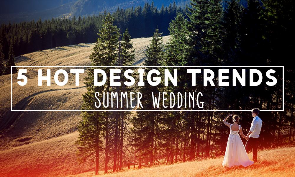 hot design trends wedding