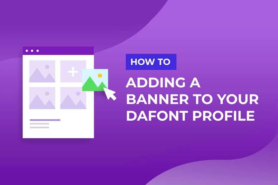 How to upload a sidebar banner to your Dafont profile