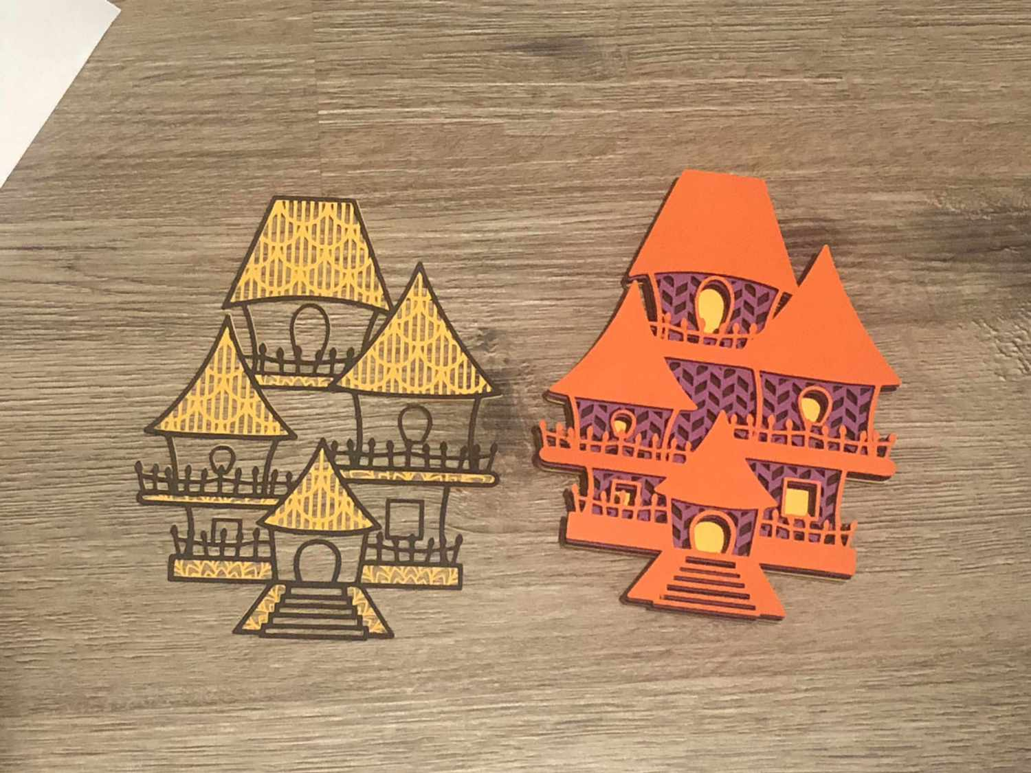 How To Make A 3D Layered Paper Craft Design (Start to Finish) 12