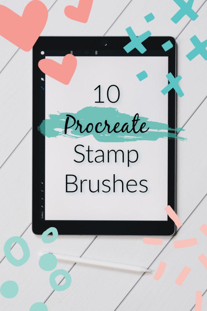 10 stamp brushes for Procreate, 10 modern procreate brushes