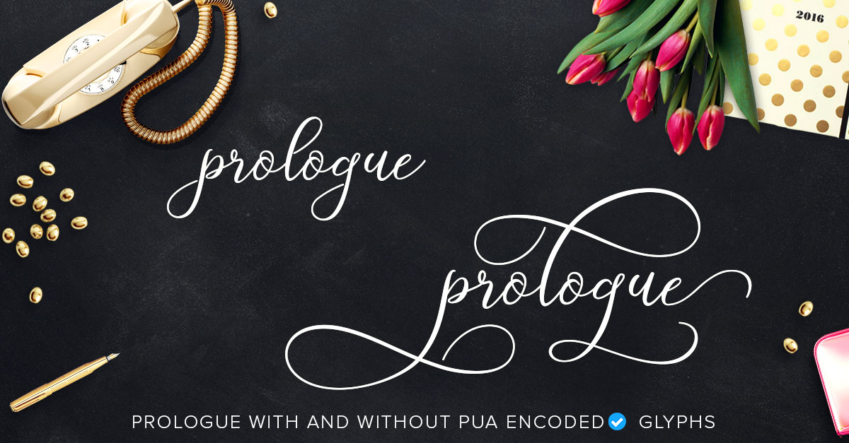 prologue script with pua characters