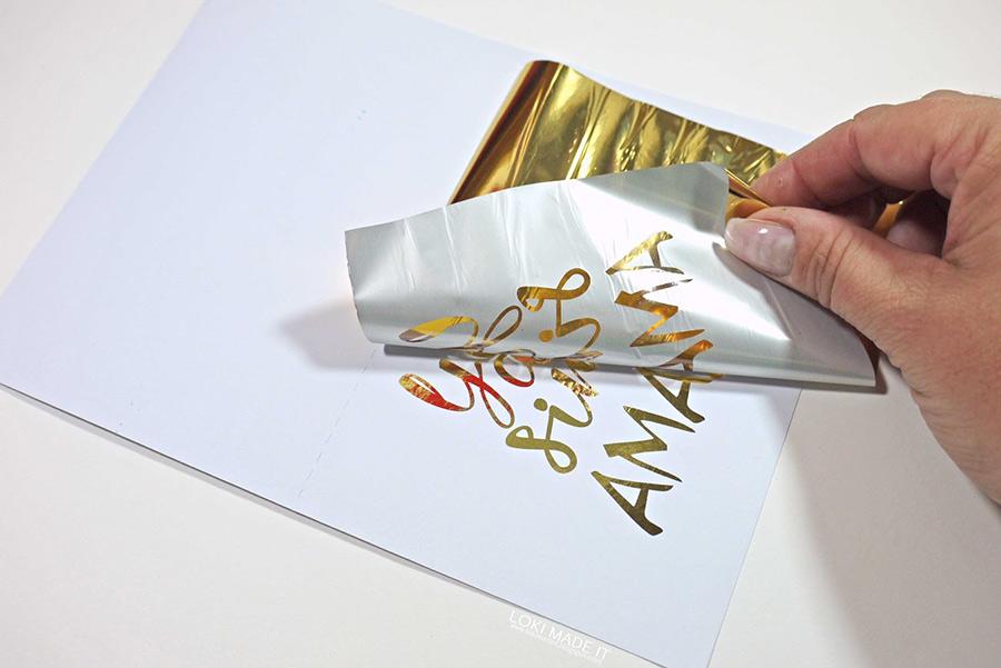 Peel away the foil