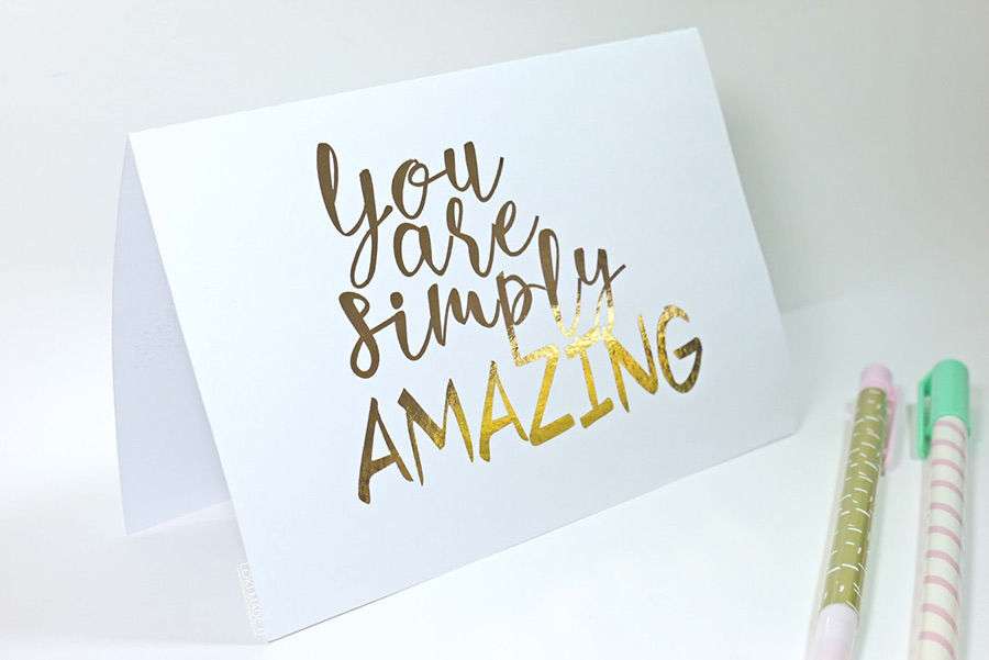 You Are Simply Amazing Quote Card