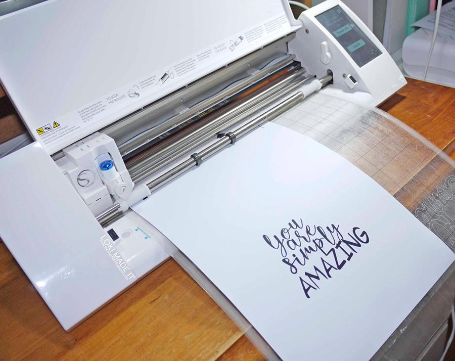 Silhouette cutting Quote Card Design
