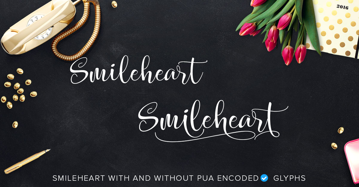 smileheart with pua characters