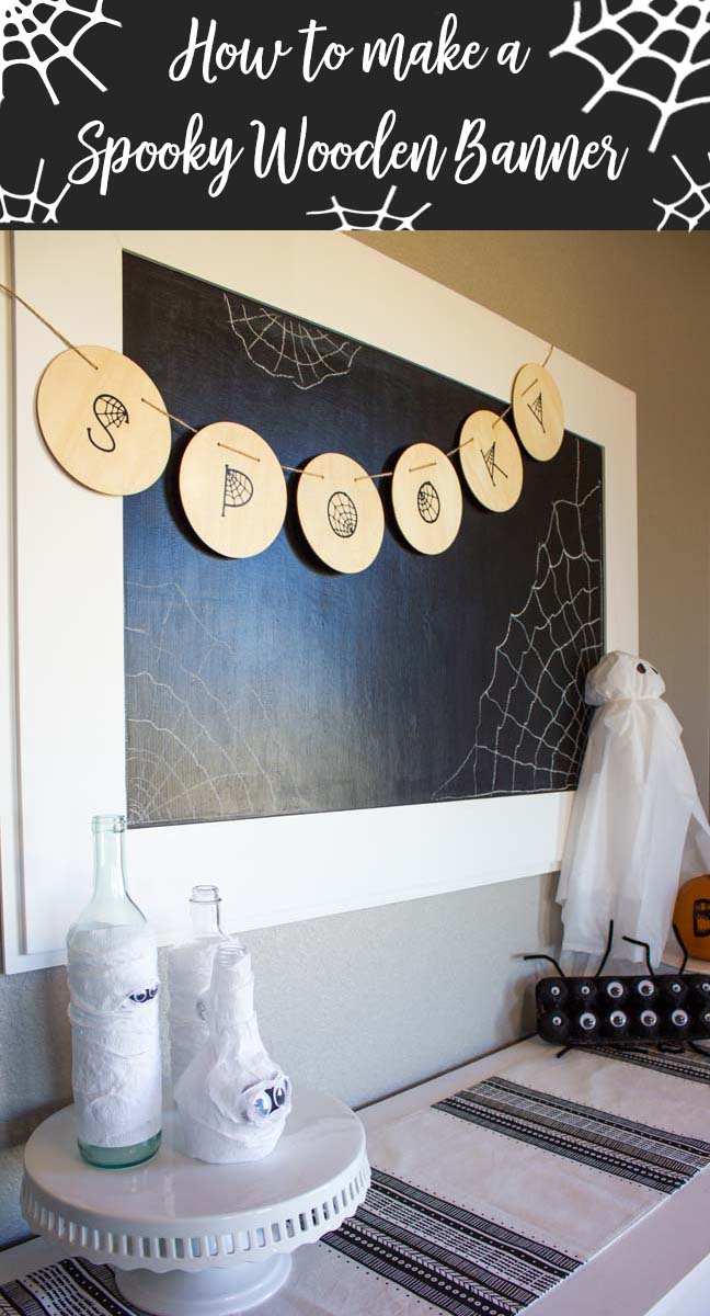 How to make a spooky wooden banner