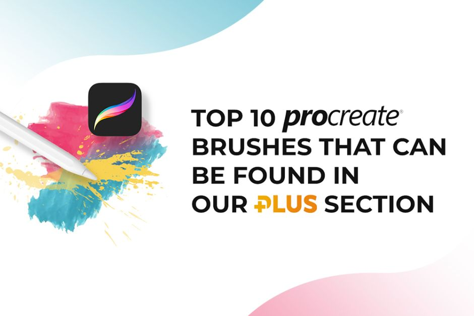 Top 10 Procreate Brushes found in Design Bundles Plus Section